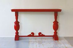 Ellsworth Red Antique Console Table by PickleePicks on Etsy
