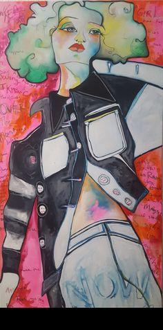 Fabrication, Oil on Canvas by Liz Vaughn Oil On Canvas, Original Paintings, My Arts, Fabric, Anime, Tejido, Tela, Cloths, Cartoon Movies