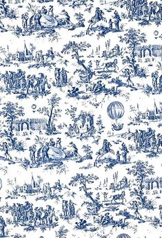 Toile du Jouy - fabric design dating back to 17th Century - literally cloth from Jouy-en-Josas in France