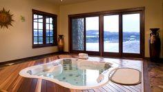 I need this...  Hot Tub/Pool inground in basement.  Pretty cool by Taradar Fine Homes