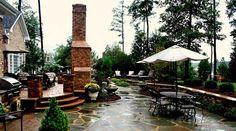 Frank Bowman designed stone patio
