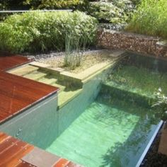 Modern Small Natural Swimming Pool , Outdoor Natural Swimming Pool In Landscaping And Outdoor Building Category