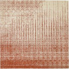 Vintage Del Mar Rain Red 8 ft. x 8 ft. Square Rug
