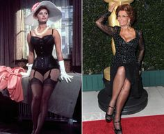"""Sofia Loren - Kibbe verified Soft Dramatic - Bold Yang with a pronounced Yin undercurrent - """"It's more about a fullness and abundance created by this strong yang frame that props up this huge dose of yin features and flesh, and the proportions need to mirror feeling and look of abundance and """"too much"""" that SD's have built into them,"""" quote from one of Kibbe's SD graduates."""