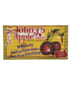 Look what I found on #zulily! 'An Apple a Day' Corrugated Metal Outdoor Wall Sign #zulilyfinds