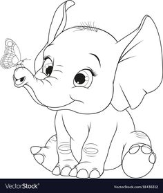 Funny kid elephant Royalty Free Vector Image - VectorStock - Funny kid elephant Royalty Free Vector Image – VectorStock La mejor imagen sobre healthy dinner r - Cute Coloring Pages, Disney Coloring Pages, Animal Coloring Pages, Coloring Books, Kids Colouring, Disney Drawings, Cartoon Drawings, Animal Drawings, Easy Drawings