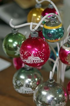 Shiny Brite Ornament Tree