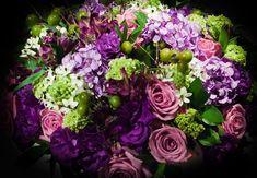 Arranjo de Flores: Lilás, Rosa e Verde