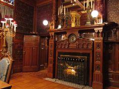 Fireplace, Driehaus Museum (Nickerson Mansion), Chicago.
