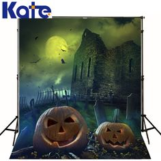 KATE Halloween Backdrop Lantern Pumpkins Photography Background Halloween Castle Moon Bat Children Backdrop for Photo Shoot #Affiliate