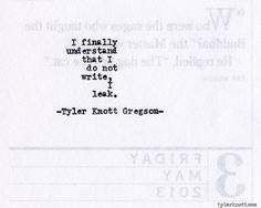 Typewriter Series #420by Tyler Knott Gregson