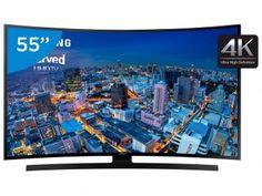 """Smart TV LED Curva 55"""" Samsung 4K/Ultra HD Gamer - UN55JU6700 Wi-Fi 4 HDMI 3 USB"""