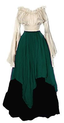 I-D-D Renaissance Medieval Peasant Wench Pirate Faire 3-Piece Costume