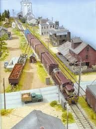 Image result for paint background model train