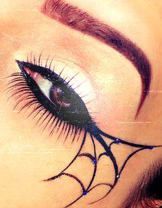 Makeup for Halloween, Spider More on my Facebook page www.facebook.com/Gyaandmakeup