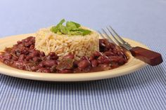 Vegan Louisiana Red Beans and Rice! One of my favorite dishes made vegan! YES. This is currently simmering on my stove and the smell is making me very impatient.