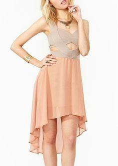 Women's Deep V-Neck Sleeveless Swallow Tailed Dress on Vesst.