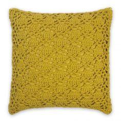 Crochet Cushion Saffron | Domayne Online Store