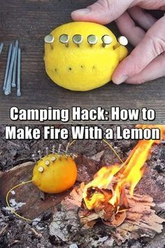 How to Make Fire With a Lemon – Fact or Fiction? Let's See Camping Hack: How to Make Fire With a Lemon (Fact or Fiction?) – I thought this was a pretty clever, although not terribly practical idea. While you may not have these types of items lying around