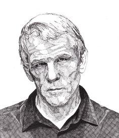 Nick Nolte drawing by Rik Reimert