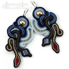 331 Kolczyki sutasz Soutache Jewelry, Jewellery Earrings, Shibori, Belly Button Rings, Swarovski, Drop Earrings, Recycling Ideas, Anna, Fashion