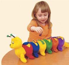 EduShape 581001 Dressapillar Shape and Color Toy