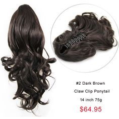 Cheap wholesale claw clip red curly indian remy hair ponytail 14 inch gorgeous claw clip human hair ponytail curly glossy 2 dark brown pmusecretfo Images
