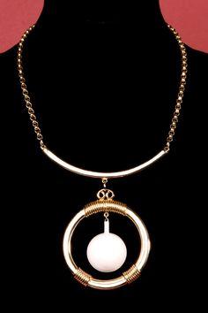 Vintage 70s Modernist Pendant Necklace http://thriftedandmodern.com/vintage-70s-modernist-pendant-necklace