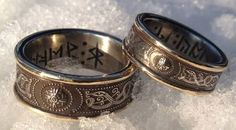 Norse wedding bands...  Beautiful...  Follow Bride's Book for more great inspiration. http://www.brides-book.com
