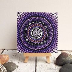 "Sunset Aboriginal dot painting on Canvas Board, Dot Art, by Raechel Saunders, Biripi Art, Purple tones, 4"" x 4"" by RaechelSaunders on Etsy https://www.etsy.com/listing/248686493/sunset-aboriginal-dot-painting-on-canvas"