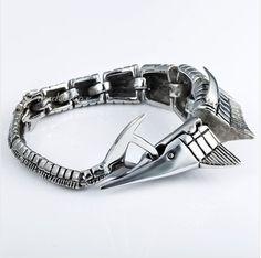 Браслет Рыба-Меч, ювелирная сталь, авторская работа