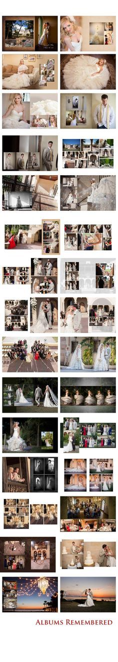 http://www.albumsremembered.com/design-gallery/weddings Free #wedding #album…