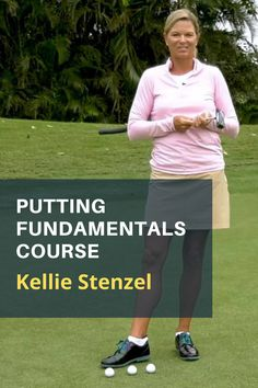 If you are new to golf or just struggling on the greens, get your flat stick fundamentals right with Kellie Stenzel's 9 lesson series on putting. #golf #golftip #golfswing #golflessons #womensgolf Golf Books, Golf Academy, Golf Putting Tips, Golf Magazine, Golf Chipping, Best Golf Courses, Golf Instruction, Golf Exercises, Golf Training