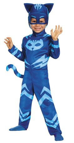 Your child don a heroic look wearing this colorful Pj Masks Catboy Toddler Classic Multicolor Halloween Costume. Like when Connor becomes Catboy in Disney Junior's Pj Masks, your child will imagine having super powers in this fun costume. Toddler Boy Halloween Costumes, Classic Halloween Costumes, Halloween Kids, Costume Halloween, Pirate Halloween, Trendy Halloween, Pj Masks Kostüm, Festa Pj Masks, Masks Kids