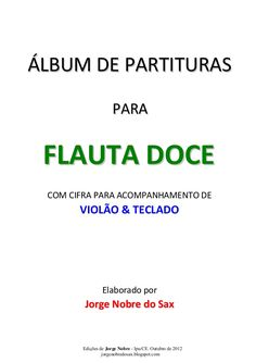 Album de partituras para flauta doce