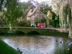 The lovely Cotswold village of Bourton on the Water, in England