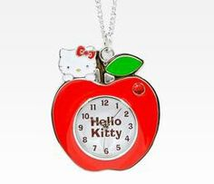 Hello Kitty apple necklace watch