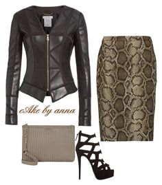 """""""cake by anna"""" by cakebyanna on Polyvore featuring Versace, DKNY, MICHAEL Michael Kors and Giuseppe Zanotti"""