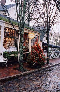 Nantucket at Christmas. Beautiful shops, markets and cafes