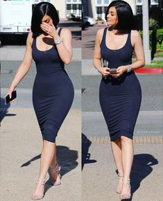 "Kylie Jenner in our ""Ribbin for blues"" dress from alyannaclothing.com"