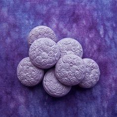 Vintage Lavender Buttons 19mm  3/4 inch Pastel by brizelsupplies