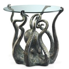 Octopus End Table - this is awesome. Would be super cute in a nautical themed nursery.