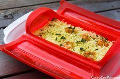 Arroz con curry y gambas - Vaporera Lekue - Receta al Vapor - http://www.mytaste.es/r/arroz-con-curry-y-gambas---vaporera-lekue---receta-al-vapor-5180010.html