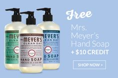 FREE hand soap + $10