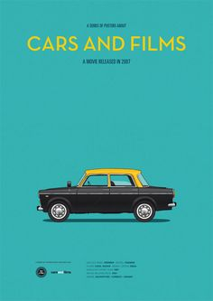 The Darjeeling Limited (2007) ~ Minimal Movie Poster by Jesus Prudencio ~ Cars and Films Series