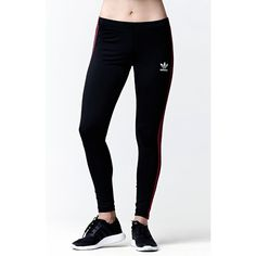 Adidas - Rita Ora Space Shifter Leggings ($35) ❤ liked on Polyvore featuring activewear, activewear pants, adidas, adidas activewear, columbia sportswear, women activewear and logo sportswear