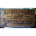 Image 1 ARBUCKLES ARIOSA 100 LB COFFEE CRATE EXCELLENT NR