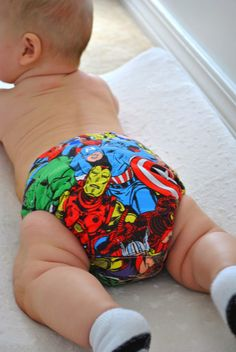 Marvel Comics Cloth Diaper.... Haha I probably would actually put this on my child