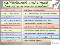Expresiones con hacer