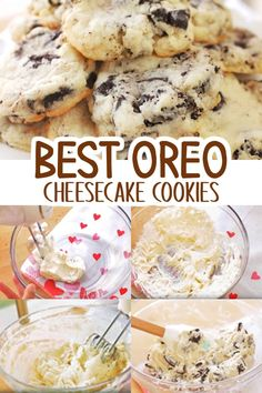With 5 ingredients only, try making these easy Oreo Cheesecake Cookies and taste the crushed Oreos in every delicious bite! Enjoy! Oreo Cheesecake Cookies, Oreo Desserts, Easy To Make Cookies, Just Bake, Cookies Ingredients, Tray Bakes, Cookie Dough, Food Print, Yummy Treats